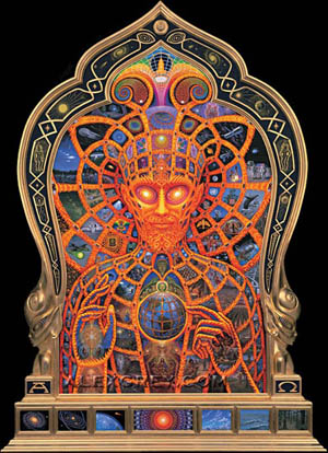 Alex Grey Cosmic Christ