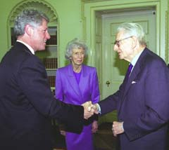 Bill Clinton & Laurence Rockefeller