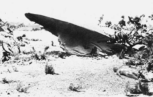Photo montage Crash Roswell